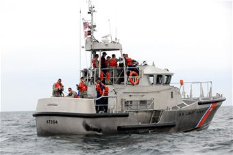 Hancock Field Personnel Conduct Joint Training on Lake Ontario