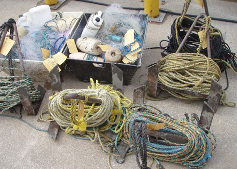 Seized fishing gear from f/v ADCO II