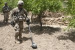 C-IED teams locate roadside bombs using metal detectors on steroids