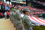 Fort Leonard Wood Soldiers, color guard featured in Game 3 of NLCS