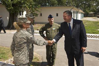 SecAF greets Airmen