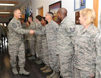 CMSAF Roy visits Keesler