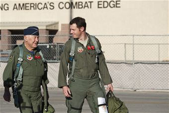 Yeager commemorates historic flight